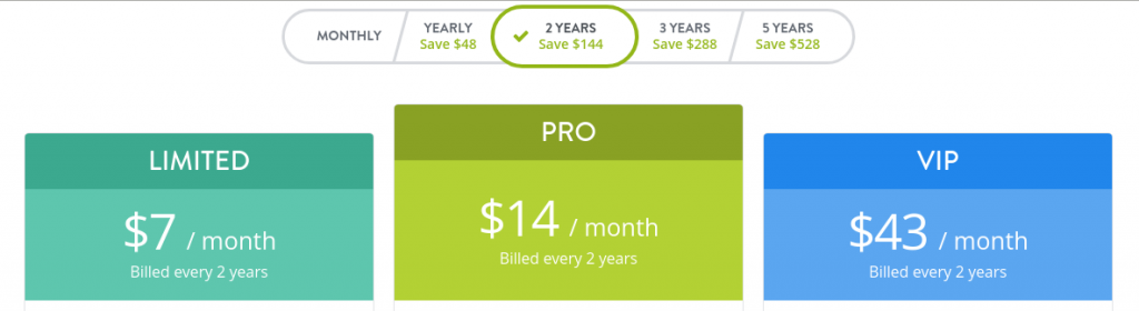 Strikingly 2 years pricing plans