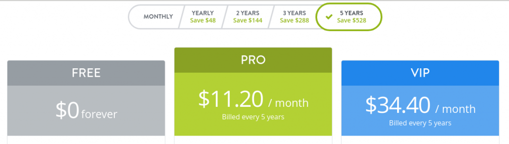 strikingly 5 years pricing plans