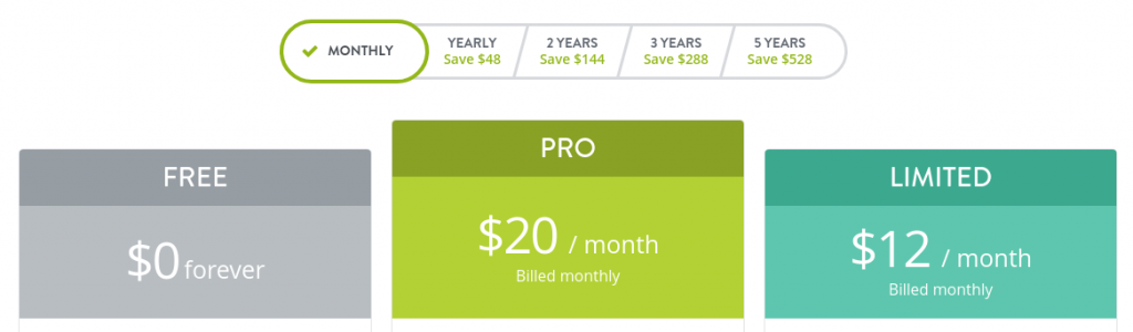 strikingly monthly pricing plans