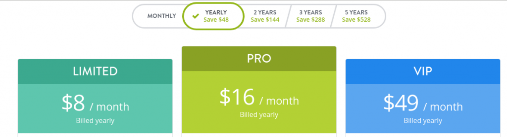 Strikingly Yearly Pricing Plans